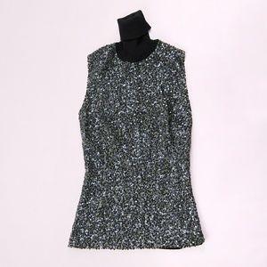 Dolce & Gabbana Sequin Sleeveless Sweater sz S